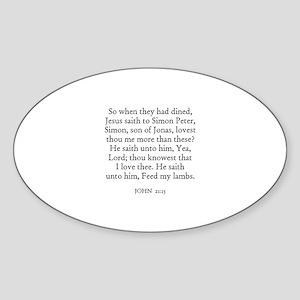 JOHN 21:15 Oval Sticker