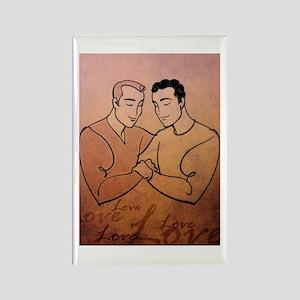 Gay Valentine Love Rectangle Magnet