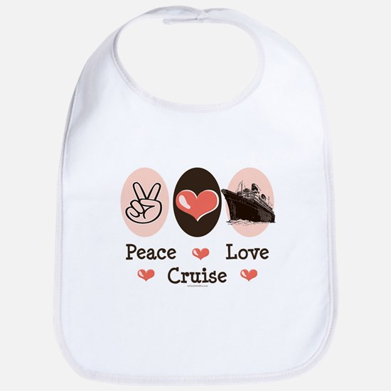 Peace Love Cruise Bib