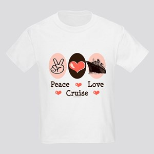 Peace Love Cruise Kids Light T-Shirt