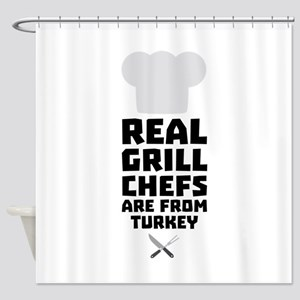 Real Grill Chefs are from Turkey C3 Shower Curtain