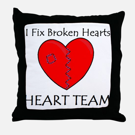 Heart Team Throw Pillow