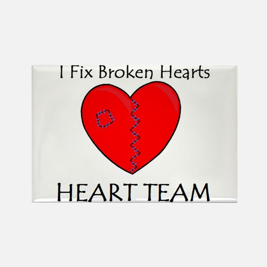 Heart Team Rectangle Magnet