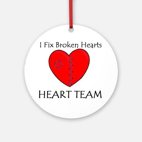 Heart Team Ornament (Round)