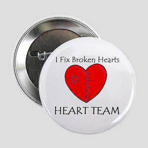 """Heart Team 2.25"""" Button"""