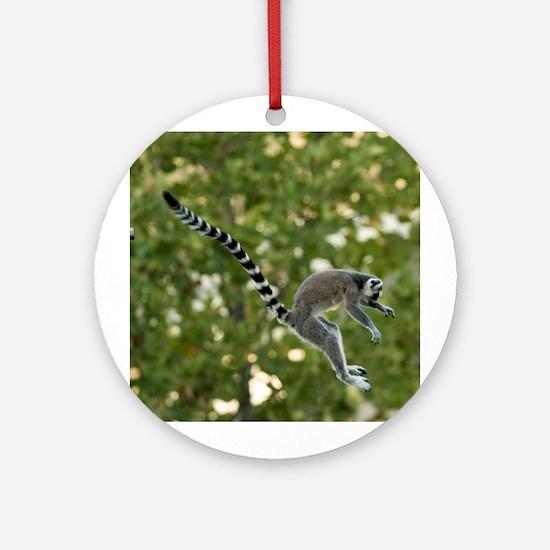 Lemur Jump Ornament (Round)