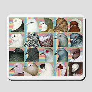 Twenty Pigeon Heads Mousepad