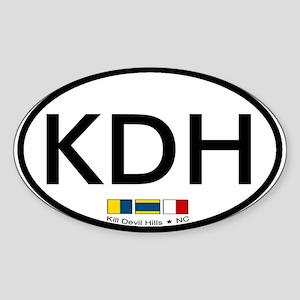 Kill Devil Hills NC Oval Sticker