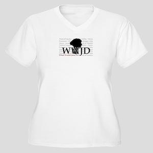 WWJD Women's Plus Size V-Neck T-Shirt