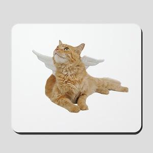 Orange Angel Cat Mousepad