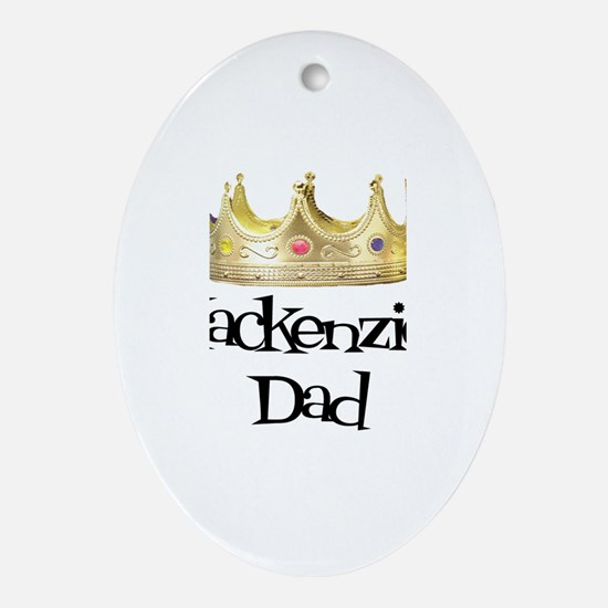 Mackenzie's Dad Oval Ornament