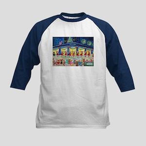 A Christmas Corgi Spectacular Kids Baseball Jersey