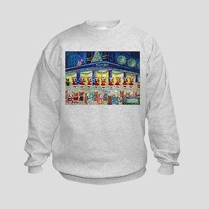 A Christmas Corgi Spectacular Kids Sweatshirt