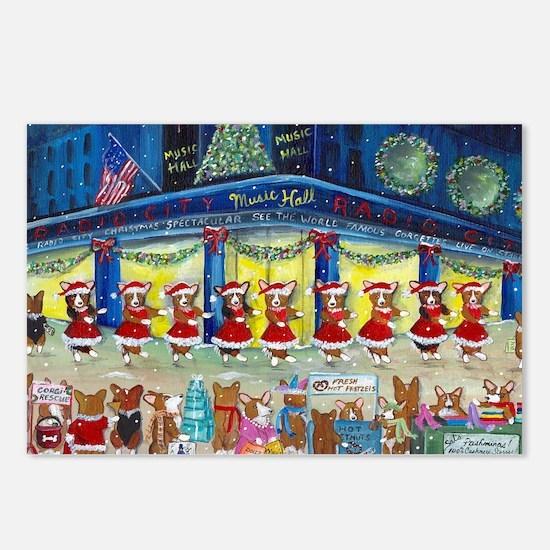 A Christmas Corgi Spectacular Postcards (Package o
