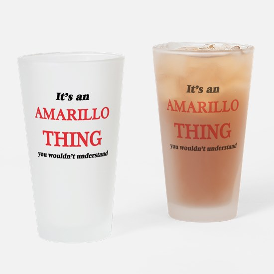 It's an Amarillo Texas thing, y Drinking Glass