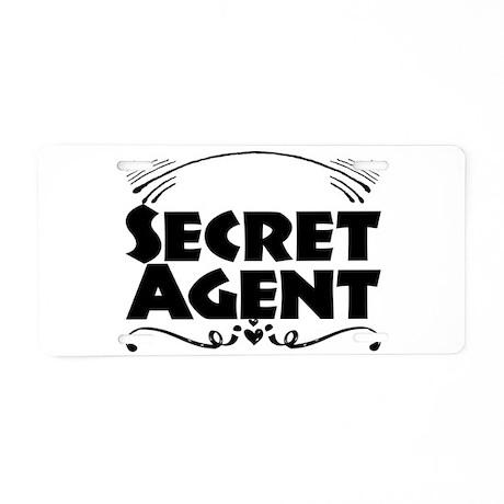 Secret Agent Aluminum License Plate by ADMIN_CP13764613