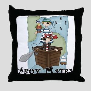 Pirate Adventures Throw Pillow
