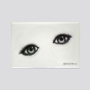 Eyes Items Rectangle Magnet