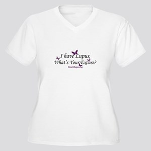 What's Your Excuse Women's Plus Size V-Neck T-Shir
