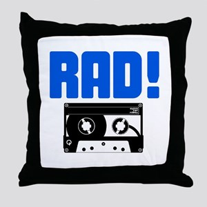 Rad Tape Throw Pillow