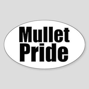 Mullets Rule! Oval Sticker