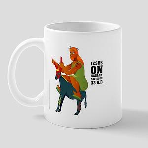 Jesus on Harley (the Messiah Donkey) Mug