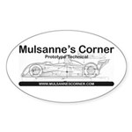 Mulsannes Corner Oval Sticker