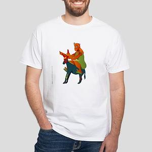 Jesus on Harley (the Messiah Donkey) White T-Shirt
