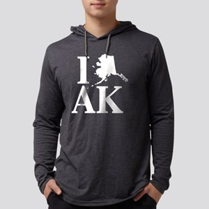 I Heart Alaska graphic heart l Long Sleeve T-Shirt