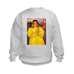 Breton Woman Praying Kids Sweatshirt