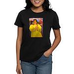 Breton Woman Praying Women's Dark T-Shirt