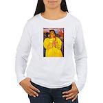 Breton Woman Praying Women's Long Sleeve T-Shirt