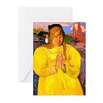 Breton Woman Praying Greeting Cards (Pk of 20)