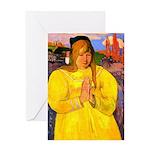 Breton Woman Praying Greeting Card