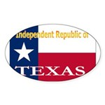 Texas-4 Oval Sticker (50 pk)