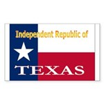 Texas-4 Rectangle Sticker 10 pk)