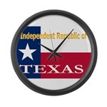 Texas-4 Large Wall Clock