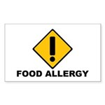 Food Allergies Rectangle Sticker 50 pk)