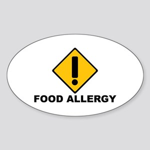 Food Allergies Oval Sticker