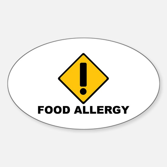 Food Allergies Oval Decal