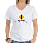 Food Allergies Women's V-Neck T-Shirt
