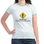 Food Allergies Jr. Ringer T-Shirt