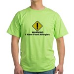 Food Allergies Green T-Shirt
