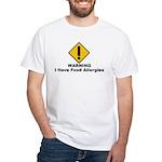 Food Allergies White T-Shirt