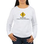 Food Allergies Women's Long Sleeve T-Shirt