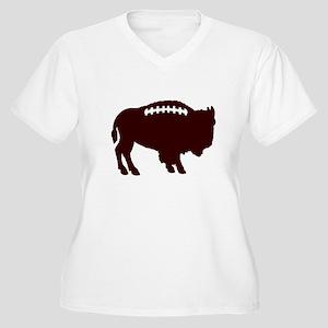 Buffalo Football Women's Plus Size V-Neck T-Shirt