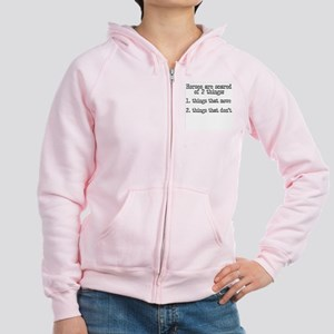 Horses are scared of 2 things Women's Zip Hoodie