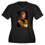 Musician Women's Plus Size V-Neck Dark T-Shirt