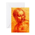 Female Head Greeting Cards (Pk of 10)
