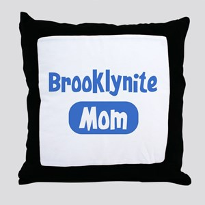 Brooklynite mom Throw Pillow